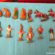 Juguetes Antiguos: LOTE DE SOLDADOS AZTECAS PROVENIENTE DE AJEDREZ. Lote 204395632