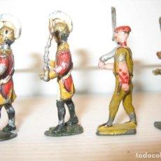Juguetes Antiguos: 4 SOLDADOS DE PLOMO 4,5 CM. Lote 205867988
