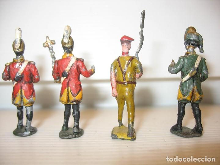 Juguetes Antiguos: 4 soldados de plomo 4,5 cm - Foto 4 - 205867988