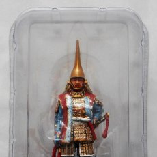 Juguetes Antiguos: FIGURA DE METAL DEL SAMURAI MAEDA, JAPÓN MITAD DEL SIGLO XVI. Lote 213345208