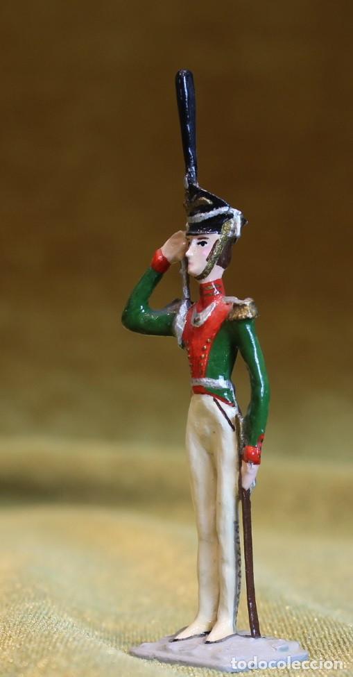 Juguetes Antiguos: Soldadito de plomo,Oficial ejercito inglés,Figura plana. - Foto 2 - 206996668