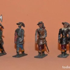 Juguetes Antiguos: SOLDADOS PLOMO. CUATRO SOLDADOS TERCIOS DE FLANDES. CASANELLAS Ó ÁNGEL JIMENEZ. Lote 207305008
