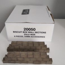Juguetes Antiguos: 54MM BRITAINS 20050 ZULU WAR BISCUIT BOX WALL SECTIONS 6 PIECES (RETIRED). Lote 207927460