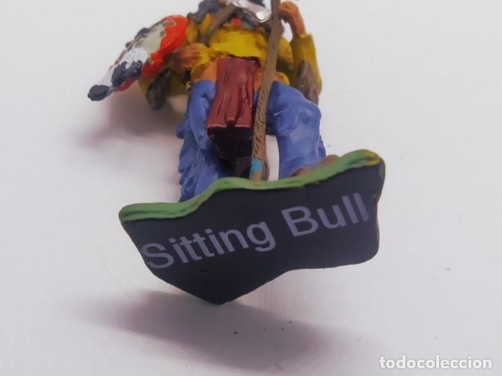 Juguetes Antiguos: INAH001 Toro Sentando Figura plomo Indios americanos Hobby Work - Foto 6 - 209277063