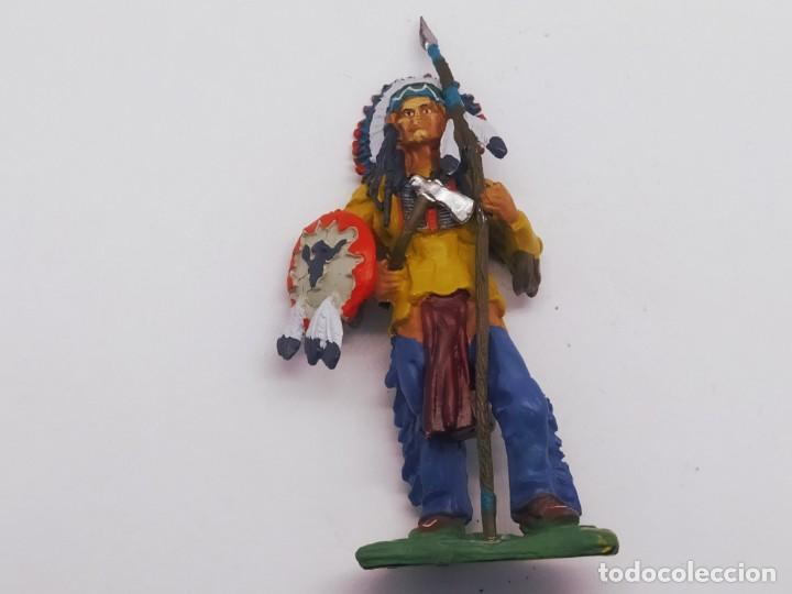Juguetes Antiguos: INAH001 Toro Sentando Figura plomo Indios americanos Hobby Work - Foto 8 - 209277063