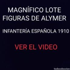 Juguetes Antiguos: MAGNIFICO LOTE DE FIGURAS ALYMER 54MM - INFANTERIA EJERCITO ESPAÑOL 1910 SOLDADITOS DE PLOMO 54 MM. Lote 210256676