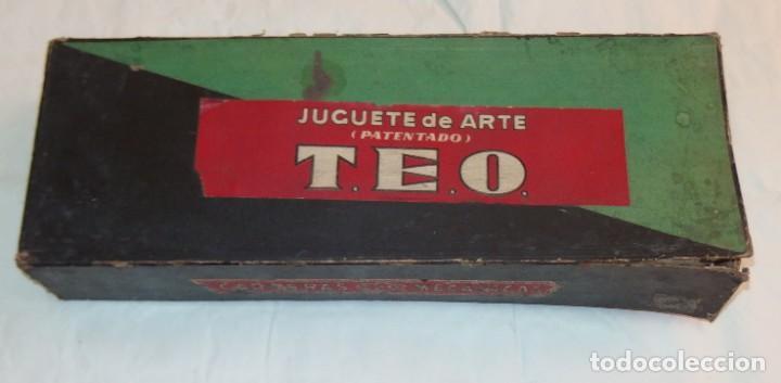 Juguetes Antiguos: JUGUETE DE ARTE TEO,CARRERAS MECÁNICAS,CARRERA DE CABALLOS,CAJA ORIGINAL,AÑOS 20 Ó 30 - Foto 3 - 212574113