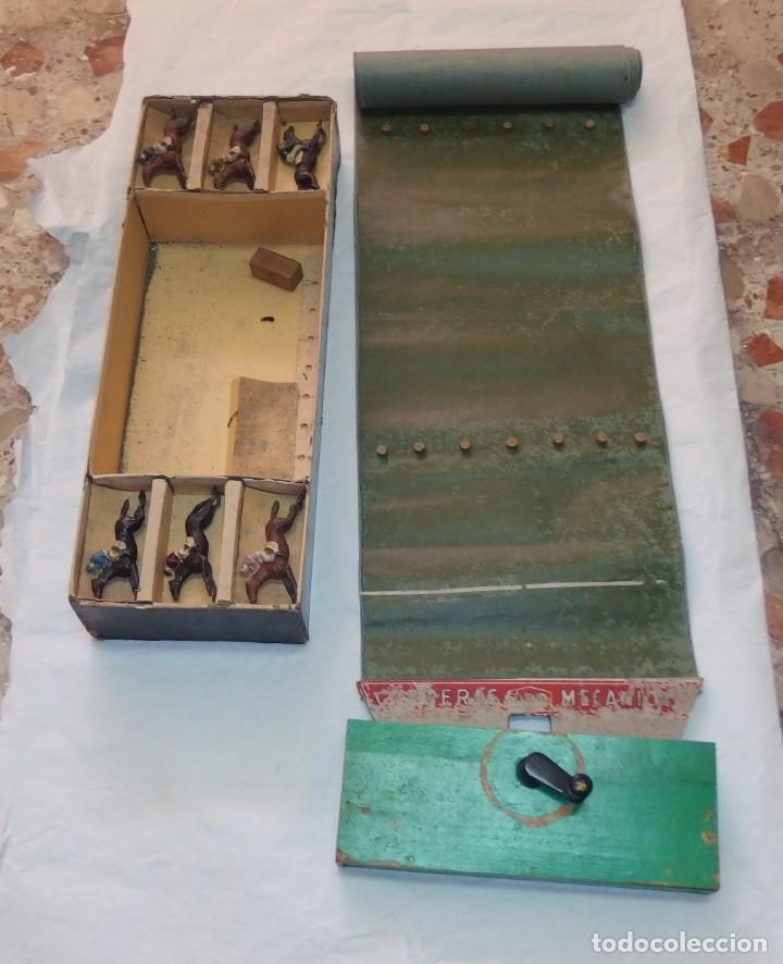 Juguetes Antiguos: JUGUETE DE ARTE TEO,CARRERAS MECÁNICAS,CARRERA DE CABALLOS,CAJA ORIGINAL,AÑOS 20 Ó 30 - Foto 8 - 212574113