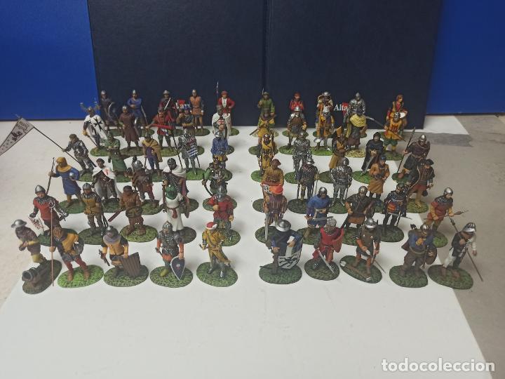 Juguetes Antiguos: COLECCION COMPLETA 60 FIGURAS SOLDADITOS PLOMO SOLDADOS DE LA EDAD MEDIA ALTAYA. LEER - Foto 4 - 213645825