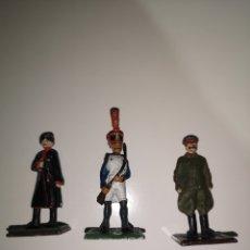 Juguetes Antiguos: 3 SOLDADOS DE PLOMO / CHINA, FRANCIA, RUSIA. Lote 213736632