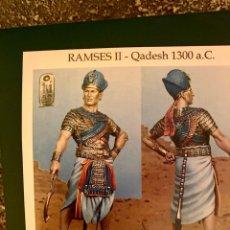 Jeux Anciens: FIGURA DE PLOMO 54MM RAMSES II ART GIRONA. Lote 215075602
