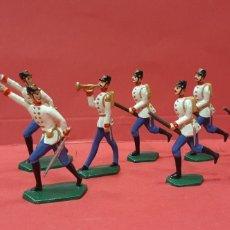 Juguetes Antiguos: SOLDADITOS DE PLOMO EN MINIATURA.. Lote 215661613