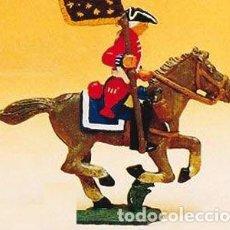 Juguetes Antiguos: MOLDE EN METAL PARA PLOMO, DE LA CASA PRINCE AUGUST : CABALLERÍA, PORTAESTANDARTE. PLOMOALEACIÓN. Lote 215798305
