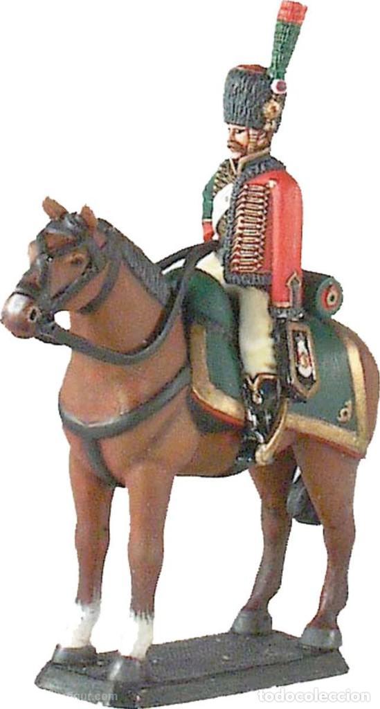 FIGURA DE PLOMO/ESTAÑO, DE LA CASA PRINZ AUGUST. CAZADOR A CABALLO., 1805. NUEVA. PLOMOALEACIÓN (Juguetes - Soldaditos - Soldaditos de plomo)