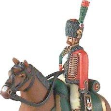 Juguetes Antiguos: FIGURA DE PLOMO/ESTAÑO, DE LA CASA PRINZ AUGUST. CAZADOR A CABALLO., 1805. NUEVA. PLOMOALEACIÓN. Lote 215834033