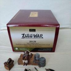 "Juguetes Antiguos: 54MM W. BRITAIN (BRITAINS) ZULU WAR 20128 "" ZULU TWILIGHT Nº 2 "" (3 PIECES). Lote 216786263"