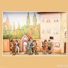 Juguetes Antiguos: IMPRESIONANTE DIORAMA CON, FIGURAS EN PLOMO, BZ(ALEMANIA) , PLOMOALEACIÓN. Lote 216943976