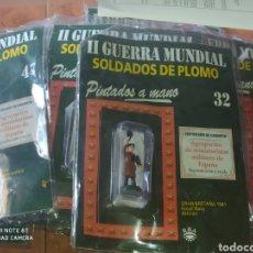 Juguetes Antiguos: 11 SOLDADOS DE PLOMO DIFERENTES DE LA II GUERRA MUNDIAL EDICIONES RBA. Lote 219181523