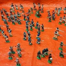 Juguetes Antiguos: LOTE DE 97 SOLDADITOS DE PLOMO EN MINIATURA. MIDEN 30 MM.. Lote 219439301