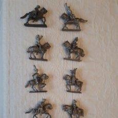 Juguetes Antiguos: 10 SOLDADITOS DE PLOMO CON SUS 10 CABALLOS. Lote 220675537