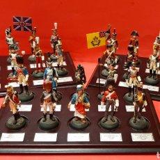 Juguetes Antiguos: COLECCIÓN DE 30 SOLDADITOS DE LAS GUERRAS NAPOLEÓNICAS DE ALMIRALL PALOU CON PEANA ORIGINAL.. Lote 220969423