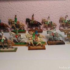 Juguetes Antiguos: SOLDADITOS DE PLOMO ANTIGUOS CON CABALLO. Lote 221571762