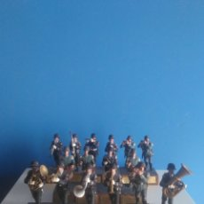 Juguetes Antiguos: LOTE DE 16 SOLDADITOS DE PLOMO ALEMANES BANDA MUSICAL DIVISION LSSAH,SS Y WEHRMACHT.. Lote 222192582