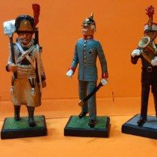 Juguetes Antiguos: LOTE 5 SOLDADITOS DE PLOMO. GUIAS DE CASTILLA ESPAÑA. GASTADOR RTO DE LINEA ZAMORA. CORONEL ALEMAN.. Lote 222680466