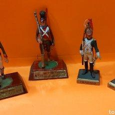 Juguetes Antiguos: SOLDADITOS DE PLOMO (4). RTO CATALUÑA 1806. SOLDADO VOLUNTARIOS GUIPUZCUANOS 1812. DRAGONS. ART.. Lote 222686266