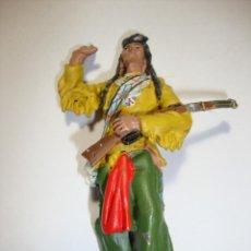 Juguetes Antiguos: SOLDADO DE PLOMO JEFE INDIO. Lote 228186805