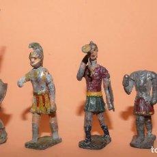 Juguetes Antiguos: SOLDADOS DE PLOMO. CINCO SOLDADOS ROMANOS. ¿ANGEL JIMENEZ, CASANELLAS..? PRINCIPIOS SIGLO XX. Lote 233880525