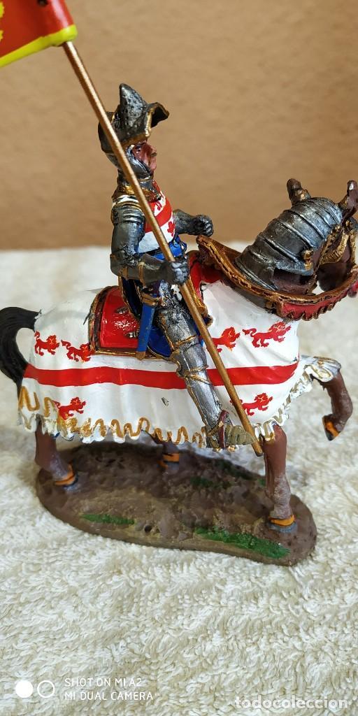 Juguetes Antiguos: Caballero Medieval Plomo . Pintado a mano - Foto 3 - 241020250