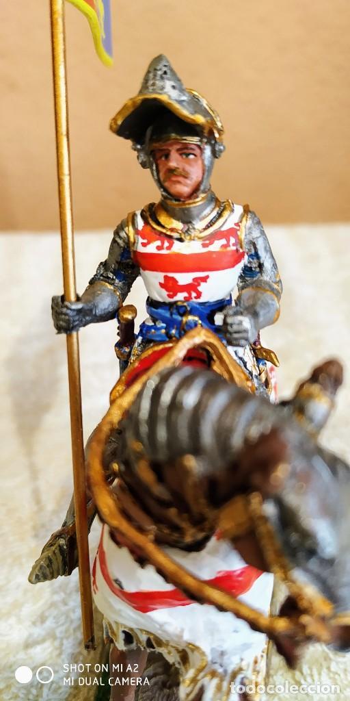 Juguetes Antiguos: Caballero Medieval Plomo . Pintado a mano - Foto 6 - 241020250