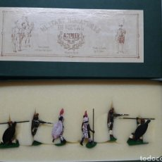 Jeux Anciens: SOLDADITOS DE PLOMO ALYMER - ÁNGEL COMES. RIFS MOUNTED IN ACTION. Lote 245048665