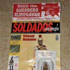Giochi Antichi: SOLDADOS Y ESTRATEGIA AÑO 1 N.º 6 - 2002 REVISTA + FIGURA PLOMO GUERRERO ALMOGAVAR 54 MM.. Lote 246333395