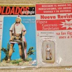 Giochi Antichi: SOLDADOS Y ESTRATEGIA AÑO 1 Nº 1 - 2001 REVISTA + FIGURA PLOMO GUERRERO TURDETANO 54 MM.. Lote 246335760