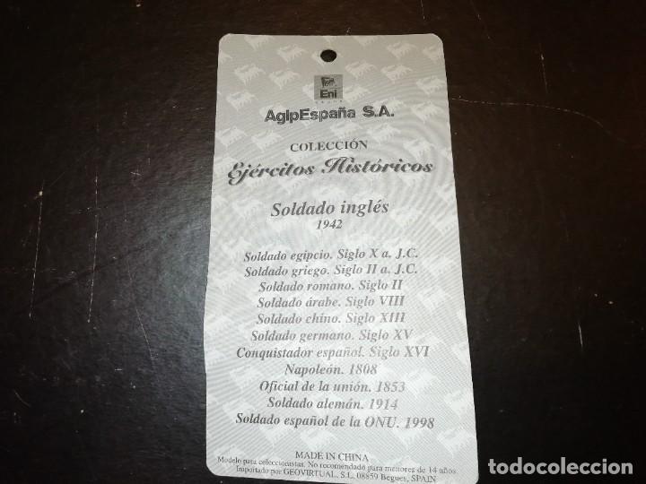 Juguetes Antiguos: GEOVIRTUAL ALMIRALL AGIP EJÉRCITOS HISTÓRICOS SOLDADO INGLÉS AÑO 1942 REF. GEO-011 1/32 PTOY - Foto 3 - 247006310