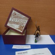 Giochi Antichi: ANTIGUO SOLDADO PLOMO A CABALLO SOLDADO DE CAZADORES AFRICA 1921 TOYSON NUEVO EN CAJA ORIGINAL. Lote 249525005