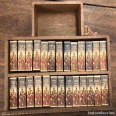 Juguetes Antiguos: HISTORIA MILITAR DE ESPAÑA EN SOLDADOS DE PLOMO. CON MUEBLE. AÑOS 50. 26 MODELOS. MUY RAROS. Lote 251809260