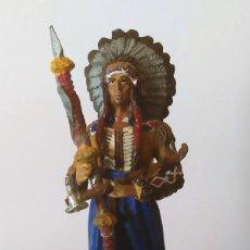 Juguetes Antiguos: FIGURA DE PLOMO INDIO AMERICANO GRAN TAMAÑO 11 CM. Lote 251905390
