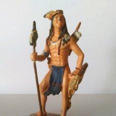 Juguetes Antiguos: FIGURA DE PLOMO INDIO AMERICANO GRAN TAMAÑO 10 CM. Lote 251905665