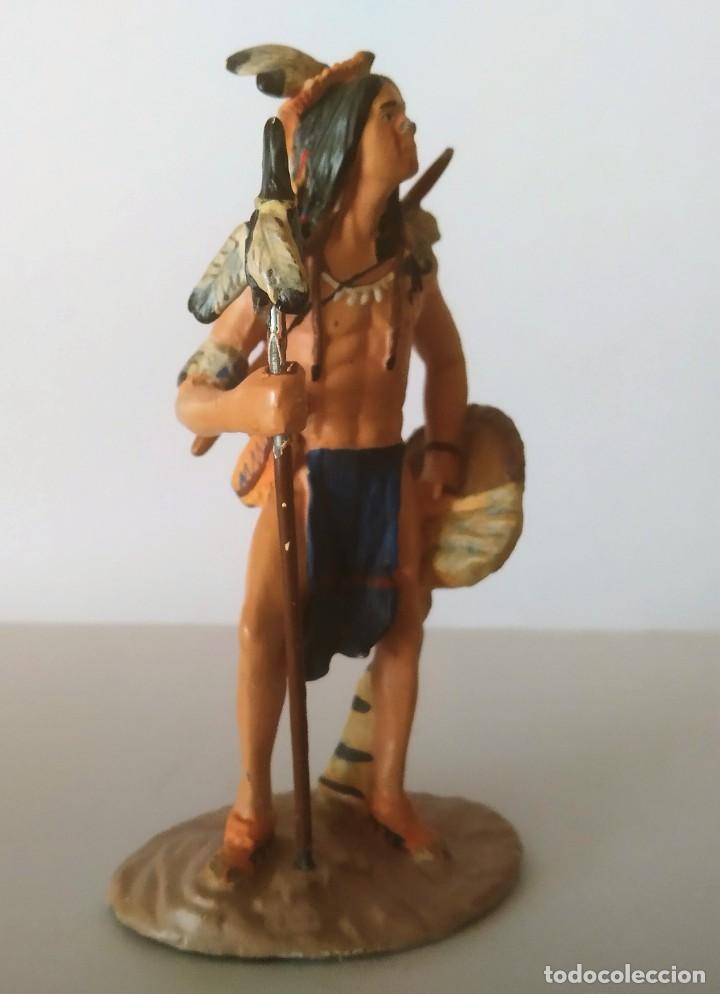 Juguetes Antiguos: FIGURA DE PLOMO INDIO AMERICANO GRAN TAMAÑO 10 CM - Foto 3 - 251905665