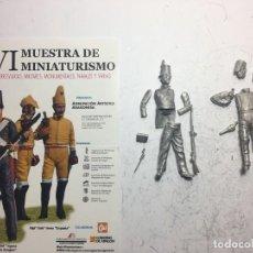 Giochi Antichi: 2 FIGURAS REALIZADAS EN METAL BLANCO PARA MONTAR Y PINTAR, 54MM. Lote 252534925
