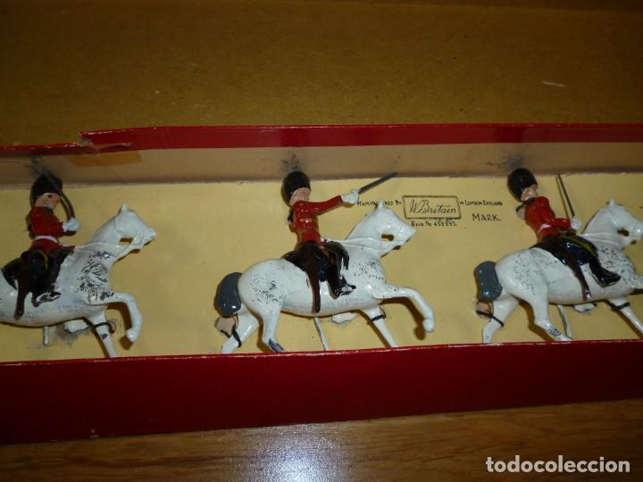 Juguetes Antiguos: Soldados de plomo Britains Royal Scots Greys soldaditos ingleses - Foto 5 - 255965700