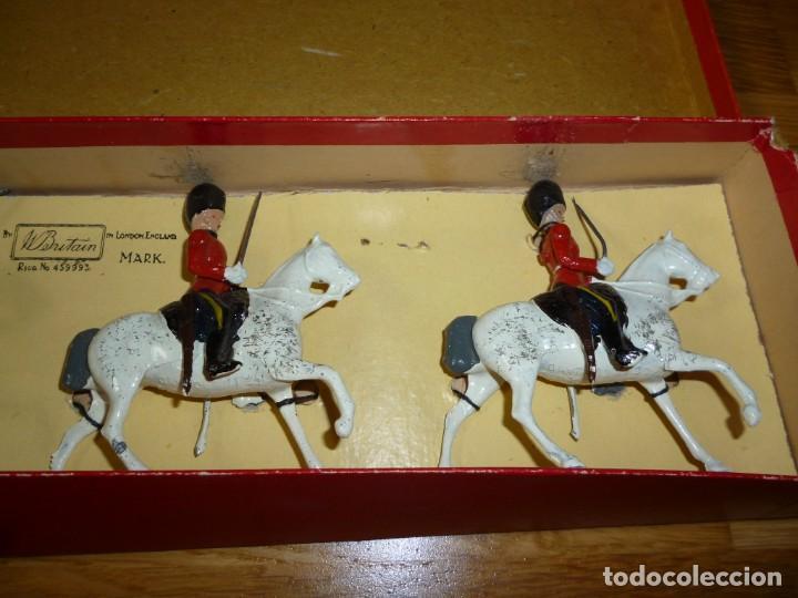 Juguetes Antiguos: Soldados de plomo Britains Royal Scots Greys soldaditos ingleses - Foto 7 - 255965700