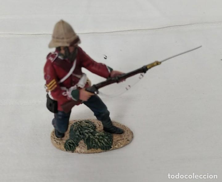 Juguetes Antiguos: BRITAINS ZULU WAR 20174 BRITISH 24th FOOT SGT. BOURNE Nº 2 PARRYING WITH BAYONET - Foto 4 - 255989215