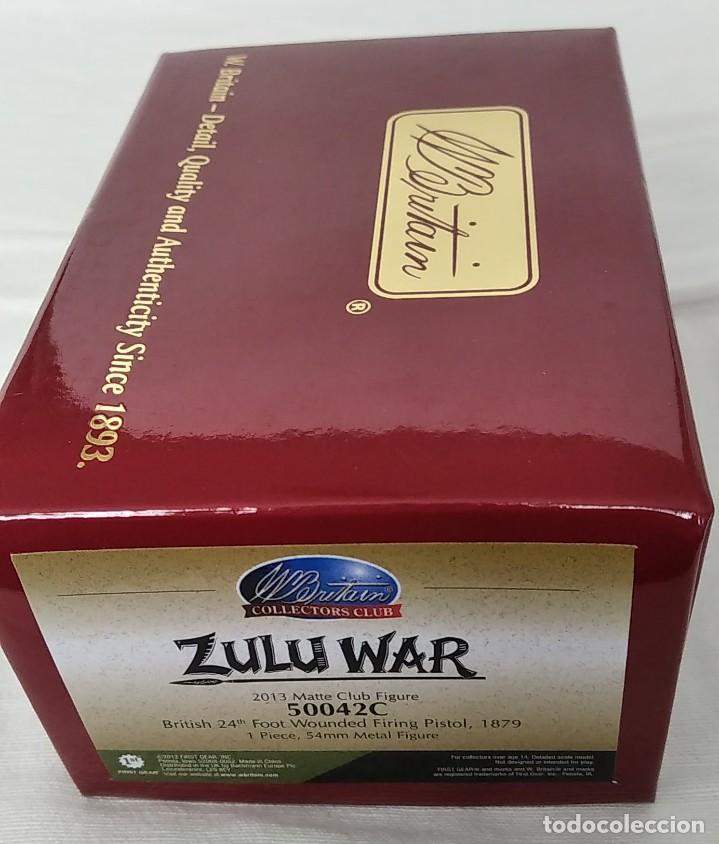 Juguetes Antiguos: BRITAINS ZULU WAR 50042C BRITISH 24th FOOT WOUNDED FIRING PISTOL - Foto 7 - 255989340