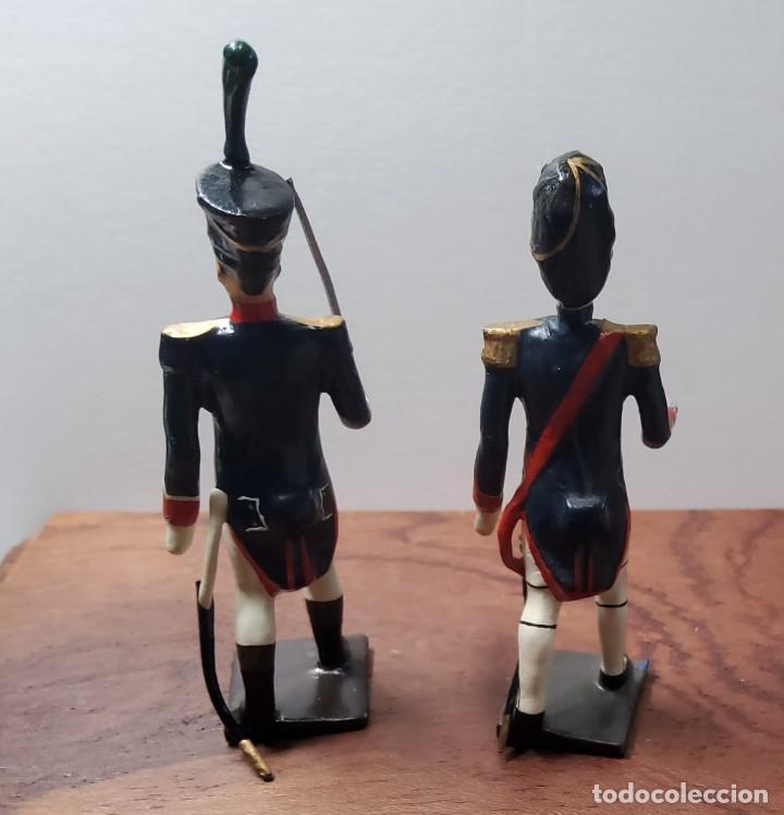 Juguetes Antiguos: 2 SOLDADOS DE PLOMO PRIMER IMPERIO FRANCES.FABRICADO POR CBG MIGNOT EN FRANCIA ENTRE 1870 Y 1920 - Foto 3 - 262031870