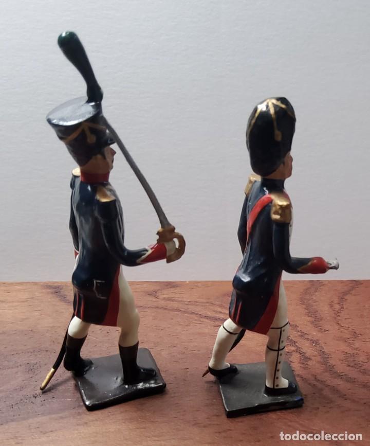 Juguetes Antiguos: 2 SOLDADOS DE PLOMO PRIMER IMPERIO FRANCES.FABRICADO POR CBG MIGNOT EN FRANCIA ENTRE 1870 Y 1920 - Foto 4 - 262031870