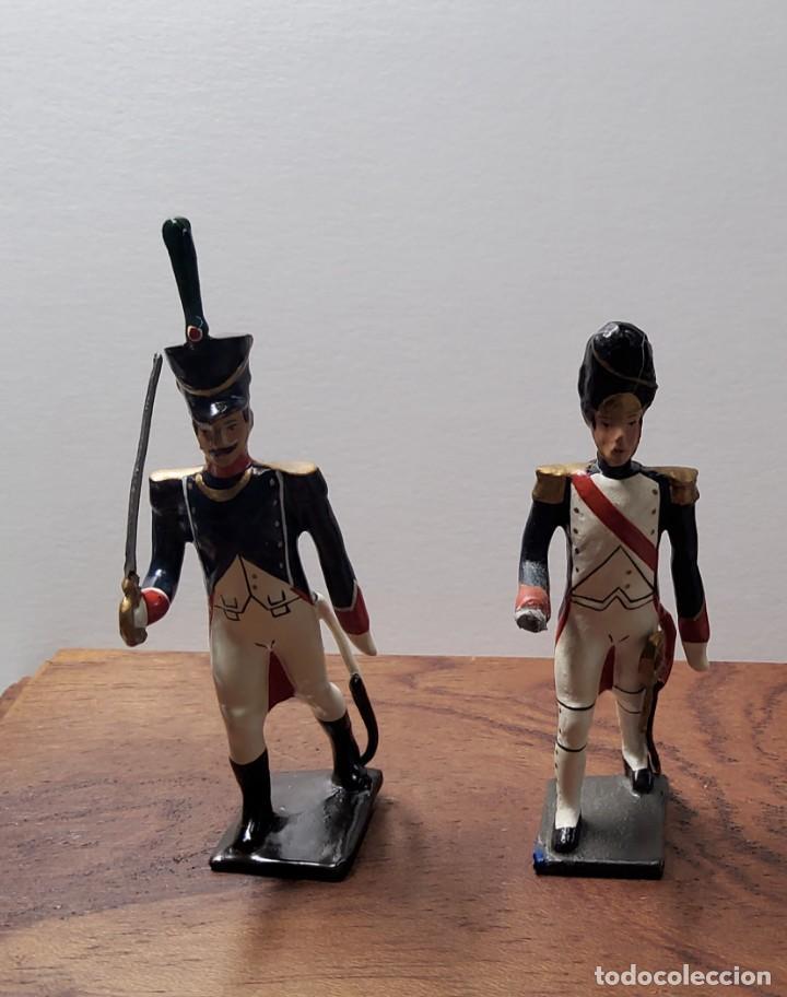2 SOLDADOS DE PLOMO PRIMER IMPERIO FRANCES.FABRICADO POR CBG MIGNOT EN FRANCIA ENTRE 1870 Y 1920 (Juguetes - Soldaditos - Soldaditos de plomo)